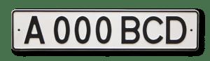 Автомобильный номер Республики Казахстан образца 1993 - 2012 годов