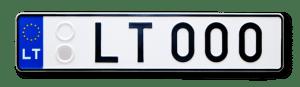 Автомобильный номер Литовской Республики образца 2004 - 2016 годов