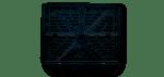 Пластиковая рамка для мото номеров типа 4 (черная)