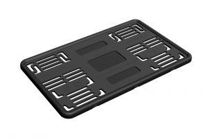 Силиконовая рамка для номеров нового типа 1А (черная)
