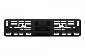 Силиконовая рамка для авто номеров (черная)